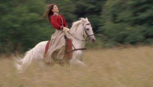 Albertine à cheval
