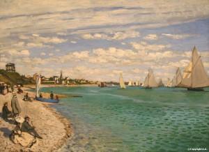 Régates à Sainte-adresse de Claude Monet