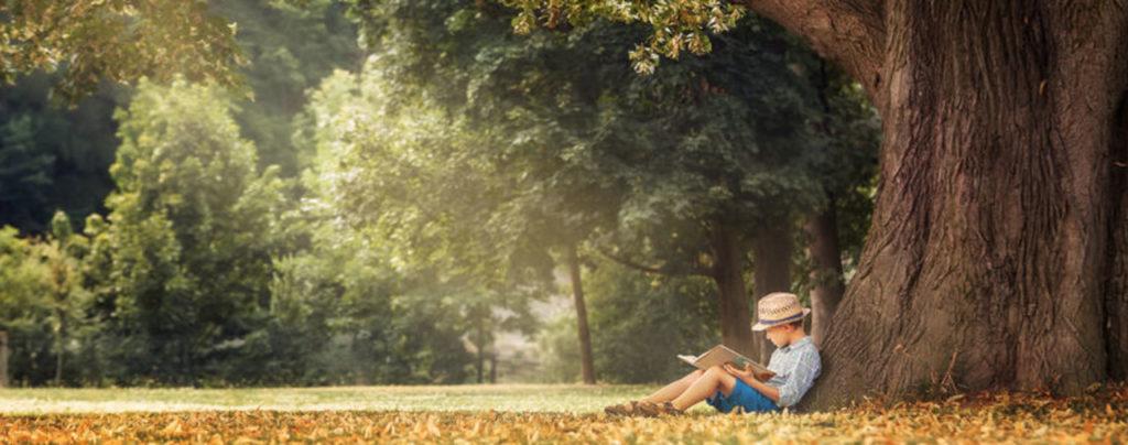 Marcel enfant lisant