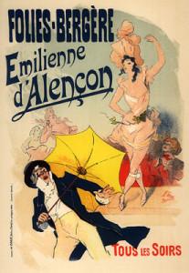 Alençon (Folies bergères) Affiche de Jules Chéret de 1893