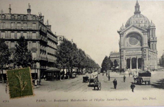 Paris Boulevard Malesherbes et St Augustin