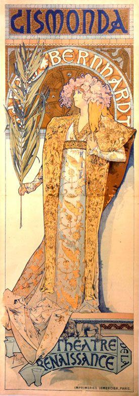 Sarh Bernhardt par Mucha